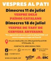 """Concert breu dins """"Vespres al pati"""" (tast de begudes dels Països catalans)"""
