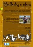 Ballades a Plaça, Lleida. Taller i ballada de desembre amb en Pep Lizandra