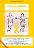 DANSES AL CARRER DE SABADELL: Curs de danses i ball folk 18/19 - 3r trimestre