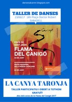 DANSES AL CARRER DE SABADELL: Taller de danses amb el grup CANYA TARONJA