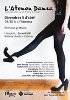 ATENCIÓ! ACTE SUSPÈS PER LA PLUJA - ATENEU SANTCUGATENC: Sarau i petita ballada folk per la mostra de Tallers i Cursos de Dansa de l'Ateneu