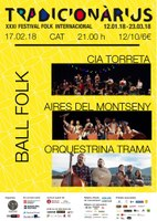 BALL FOLK al Tradicionàrius amb Orquestrina Trama, Aires del Montseny i Cia. Torreta!
