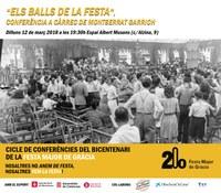 Conferència 'Els Balls de la Festa' a càrrec de Montserrat Garrich. Cicle Bicentenari Festa Major de Gràcia