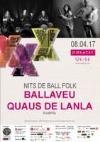 Nits de Ball Folk al Tradicionàrius amb Ballaveu i Quaus de Lanla