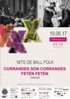 Nits de Ball Folk al Tradicionàrius amb Corrandes són Corrandes i Fetén, Fetén